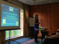 Lisa Spencer-Arnell speaking at Astute Recruitment's first business breakfast event on Emotional Intelligence at Branston Golf Club