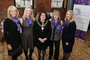 Derbys Finest committee with Mayor of Derby Linda-Winter from left April Hayhurst Claire Twells Bev Crighton and Amanda Strong