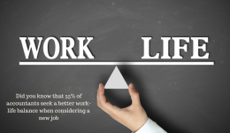 Did you know 55% of Accountants seek a better work life balance when seeking a new job?