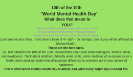 10th of the 10th – World Mental Health Day – What does that mean to you?