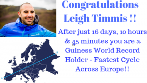 Congratulations Leigh Timmis on your new Guiness World Record