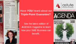 Have you heard about our triple-point guarantee. Article featured in AGENDA magazine's Autumn Edition 2018