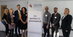 Leigh Timmis with the Astute Recruitment team