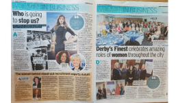 Derby Telegraph's Women In Business article featuring Astute Recruitment's MDs Sarah Stevenson and Mary Maguire