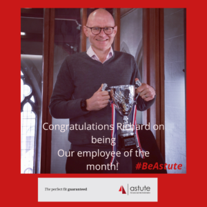 Congratulations to Richard Bowe our employee of the month