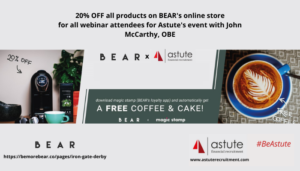 BEAR in Derby offer our webinar attendees free coffee and a cake and 20 online discount off their products