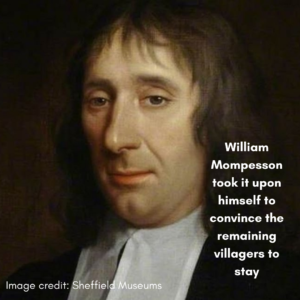 A picture of Eyam's hero, Reverand William Mompesson