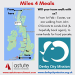 Miles 4 Meals - Our walk from John'Groats to Lands End to raise money for Derby City Mission