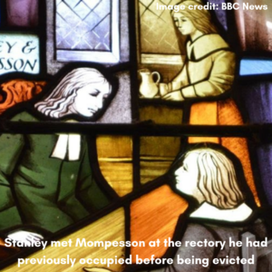Stanley and Mompesson depicted in stained glass windows