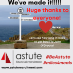 Astute Recruitment Ltd & their #miles4meals charity adventure reaches Lands End