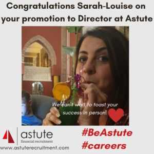 Astute promotion for Sarah-Louise Wykes to Director
